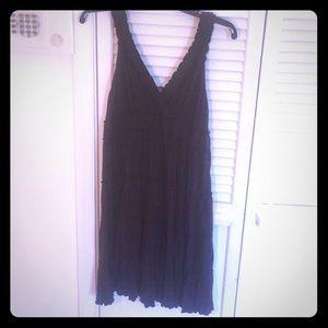 Dark Brown flowy dress. Petite Small